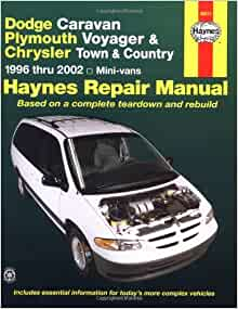 1996 plymouth voyager owners manual